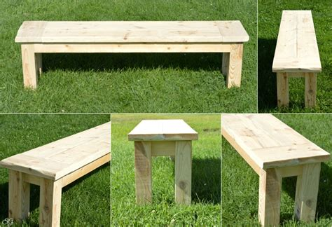 build simple outdoor bench diy rustic seating bench