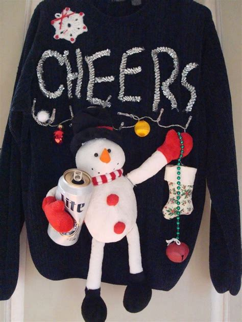 ugly christmas sweater ideas with lights mahogany sideboard buffett signed doll house miniature