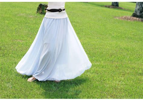 light blue chiffon skirt light blue stylish chiffon maxi skirt on luulla
