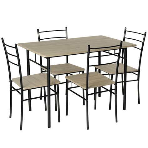 modern table l set cecilia 5 modern dining table and chairs set modern