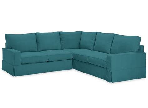 turquoise sectional sofa pb comfort square slipcovered 3 piece l shaped sectional