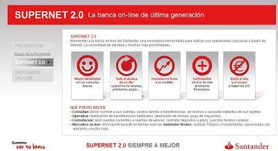 banco santander supernet 2 0 techiblog tecno eco y de ayuda queja mejora de