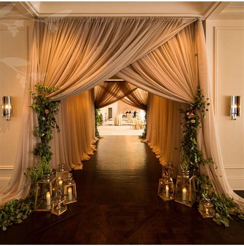 wedding draping decor what do you think of this asymmetrical draping for when