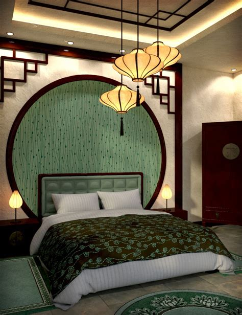 oriental bedroom decor modern chinese bedroom 3d models and 3d software by daz 3d