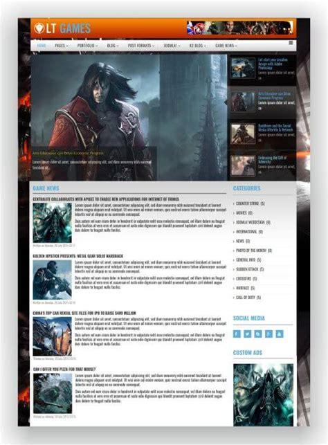 joomla themes games joomla games template f 252 r ihren game blog oder ihr