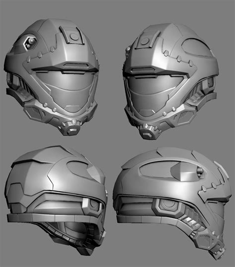 helmet design zbrush recon helmet redesign low poly by mikejensen on deviantart