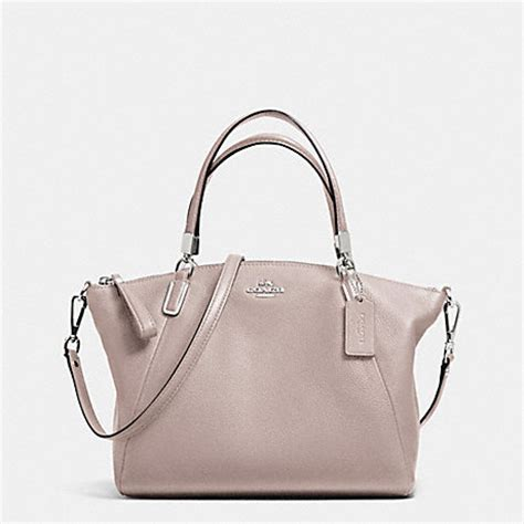 Coach Kelsey Small Patcwork pebble leather small kelsey satchel f34493 silver grey