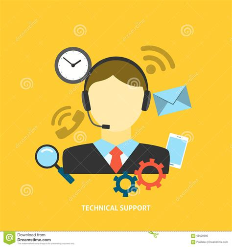 eps format support technical support concept stock vector image 65600995