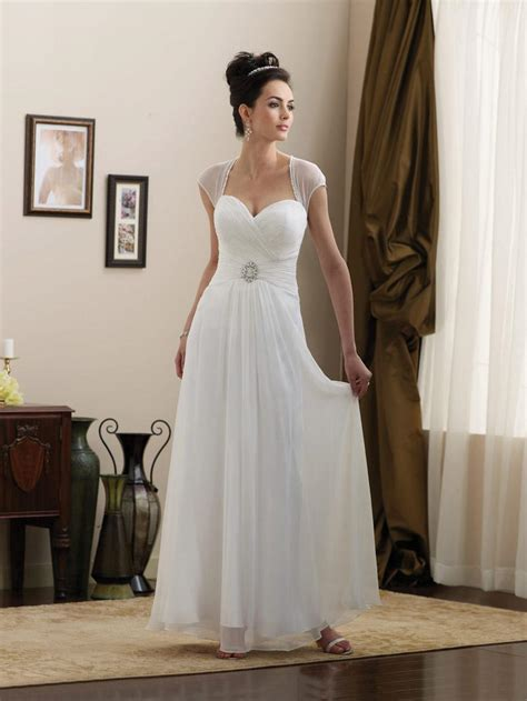simple strapless cap sleeves beaded chiffon informal