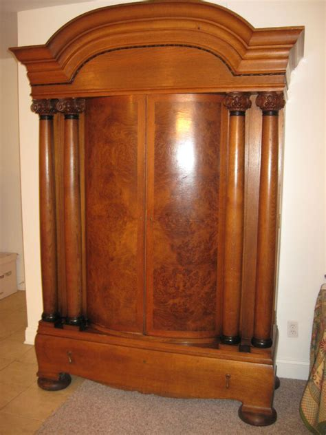 Antique Armoires Wardrobes - large antique armoire walnut w black walnut doors vernier