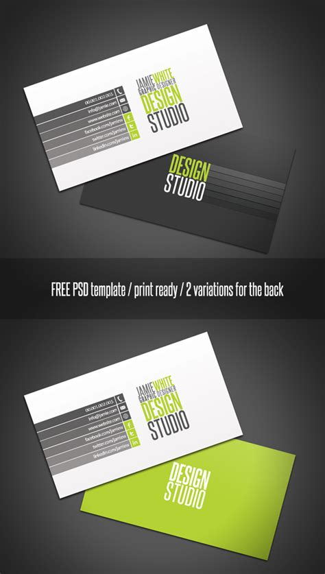 free psd card templates 40 best free business card templates in psd file format