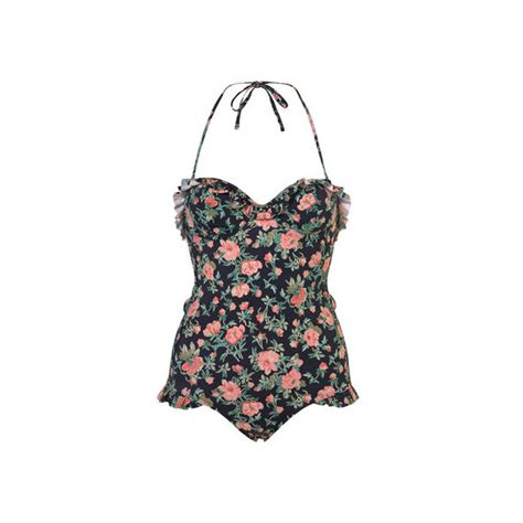 One Swimsuits On Sale At Topshop by Navy Vintage Floral One Swimwear New In
