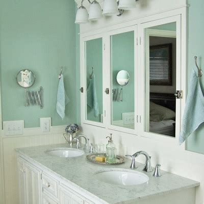 paint the half bathroom a salty blue green go mighty