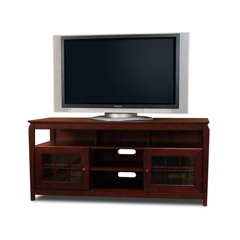 60 quot walnut wood lcd plasma tv stand bay6028