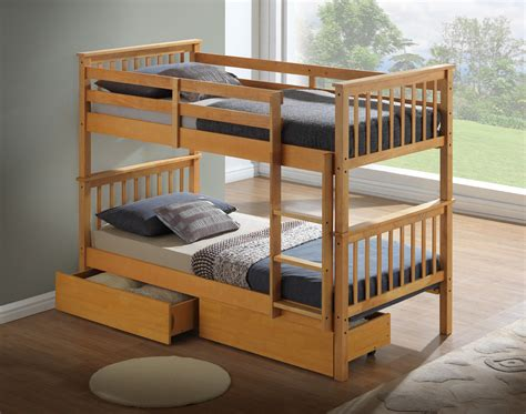 artisan  wooden bunk bed beech