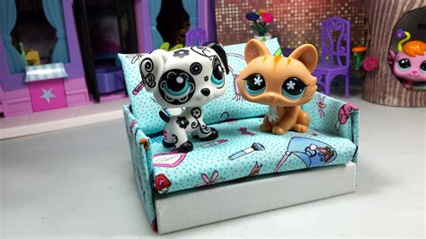 How To Make Lps Stuff Out Of Paper - how to make a tiny lps sofa dollhouse furniture