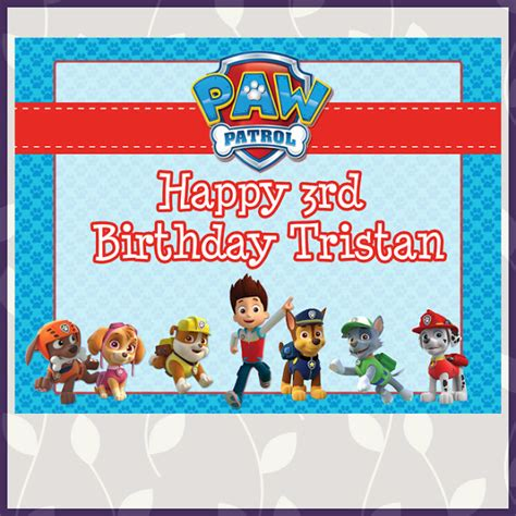 paw patrol birthday card template free free paw patrol printables