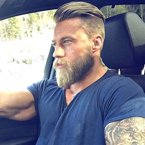 slick back hair and beard the undercut hairstyle for men men s haircuts