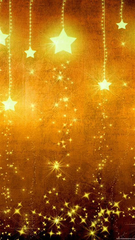 wallpaper gold and yellow 1080x1920 star light holiday yellow gold wallpapers hd