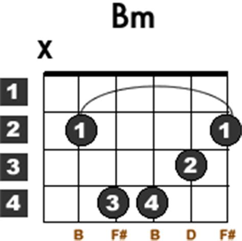 B Minor Chord Acoustic