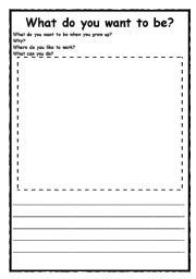 what do you want to be when you grow up worksheet by