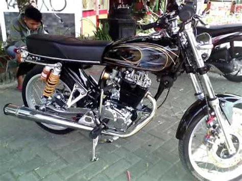 cb 160 modif modifikasi motor terbaru modifikasi motor cb 100 airbrush hitam simpel crom
