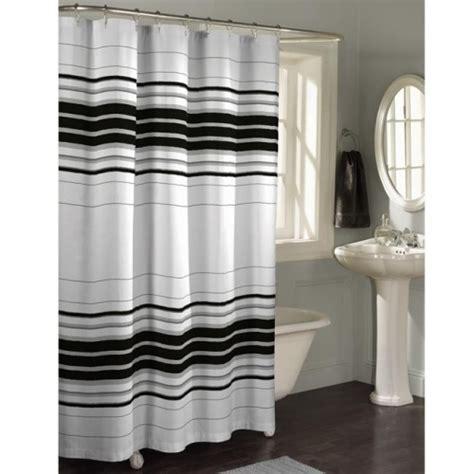 black and white horizontal striped shower curtain horizontal stripe fabric shower curtain by maytex mills