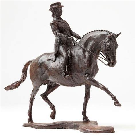 bronzed pony girl rider statue sculpture figurine bronze horse sculpture equines sculpture by artist