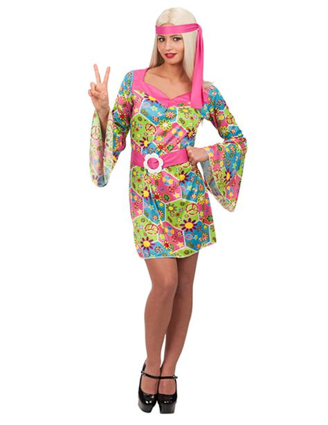 figli dei fiori abbigliamento carnevale costume hippie donna costumi adulti e vestiti di