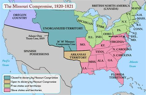 map of the united states in 1820 missouri compromise map 1820 my blog