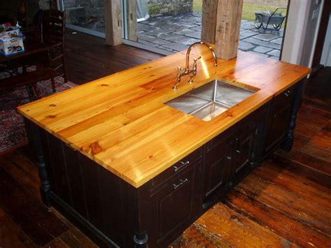 Wood Plank Countertops by Premium Wide Plank Wood Countertops Custom