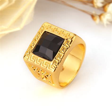 jewelry for sale sale black resin ring ring gold plated vintage