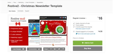 Christmas Email Templates Responsive Html Email Templates Mobile Newsletter Template
