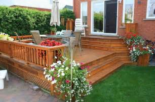 Deck To Patio Designs Patio And Deck Ideas For Small Home Landscaping Backyard Design Ideas
