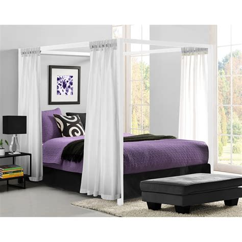 bed frame no box required modern canopy metal bed white platform bed frame no
