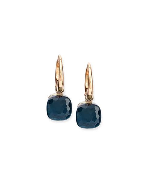 pomellato earrings pomellato nudo blue topaz small drop earrings