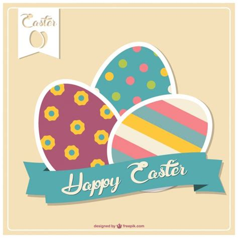 happy easter egg card template happy easter card with colorful eggs vector free