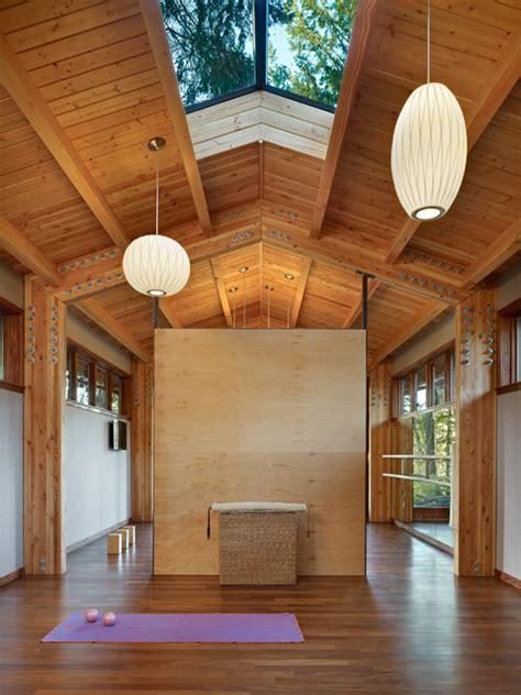 yoga studio contemporary home gym seattle  shks