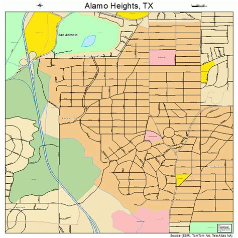 alamo texas map alamo heights texas map 4801600