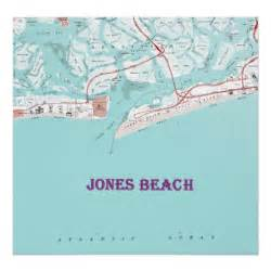 Map Of New York Beaches by Vintage Jones Beach New York Map On Canvas Large F Poster