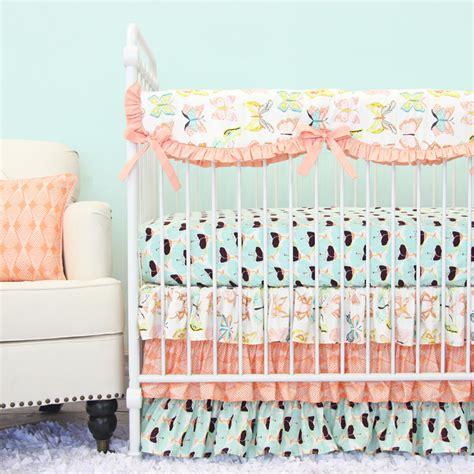 butterfly crib bedding set bentley s butterfly crib bedding set by caden