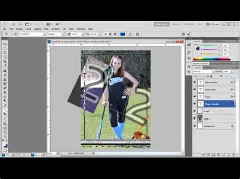 How To Create Sports Trading Cards With Photoshop Templates Youtube Card Templates For Photoshop
