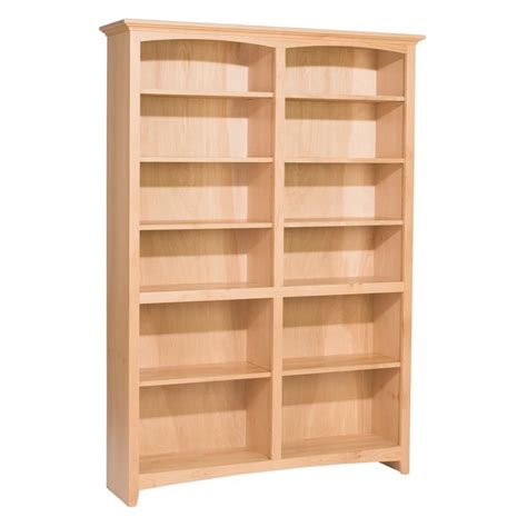unfinished bookshelves whittier wood bookcase collection 48 wide 72 quot high unfinished