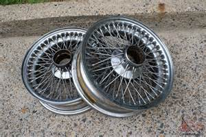 Jaguar Wire Wheels Jaguar E Type X2 Wire Wheel Rims For 1960s Series 1 2 In