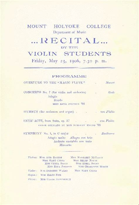 recital program template violin recital program template images