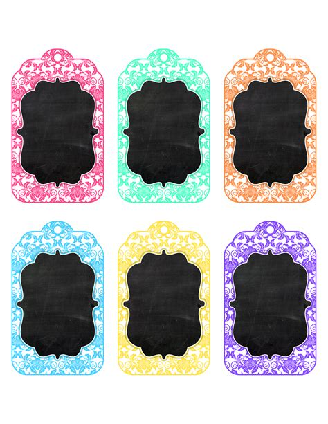 blank tags free printable chalkboard toile tags the cottage market