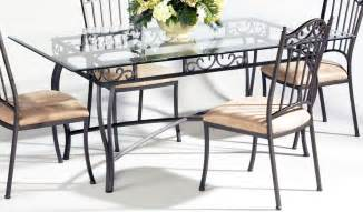 chintaly imports rectangular dining table with glass top