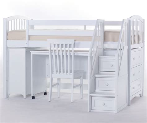 loft bed with desk and stairs bedroom bunk beds with stairs and desk for girls rustic