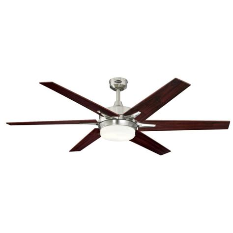 60 ceiling fan westinghouse cayuga 60 in led brushed nickel ceiling fan