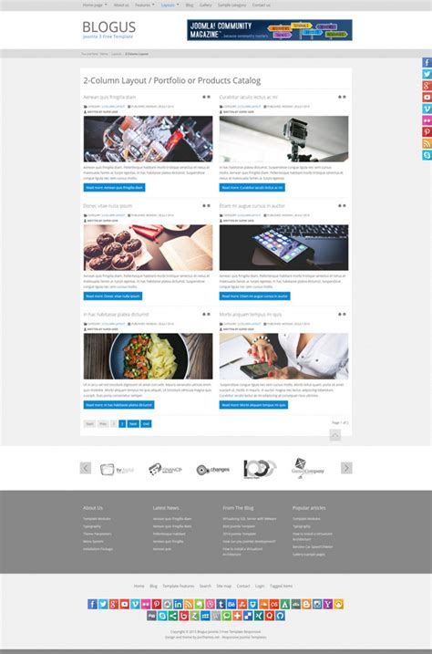 blogus free joomla 3 responsive bootstrap template